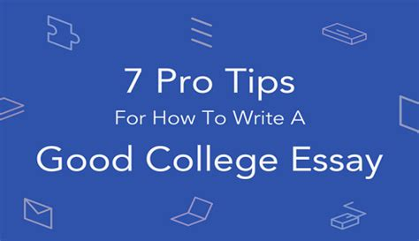Write a good college application essay
